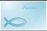 Ichthus Cartes de souhaits pliées en deux - gabarit prédéfini. <br/>Utilisez notre logiciel Avery Design & Print Online pour personnaliser facilement la conception.