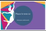 Danse en couleur Cartes de souhaits pliées en deux - gabarit prédéfini. <br/>Utilisez notre logiciel Avery Design & Print Online pour personnaliser facilement la conception.