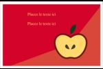 Pomme rouge Cartes de souhaits pliées en deux - gabarit prédéfini. <br/>Utilisez notre logiciel Avery Design & Print Online pour personnaliser facilement la conception.