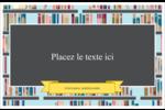 Rayons de bibliothèque Cartes de souhaits pliées en deux - gabarit prédéfini. <br/>Utilisez notre logiciel Avery Design & Print Online pour personnaliser facilement la conception.