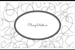 Gribouillis Cartes de souhaits pliées en deux - gabarit prédéfini. <br/>Utilisez notre logiciel Avery Design & Print Online pour personnaliser facilement la conception.