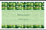Hexagones verts Cartes de souhaits pliées en deux - gabarit prédéfini. <br/>Utilisez notre logiciel Avery Design & Print Online pour personnaliser facilement la conception.
