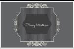 Papier peint gothique Cartes de souhaits pliées en deux - gabarit prédéfini. <br/>Utilisez notre logiciel Avery Design & Print Online pour personnaliser facilement la conception.