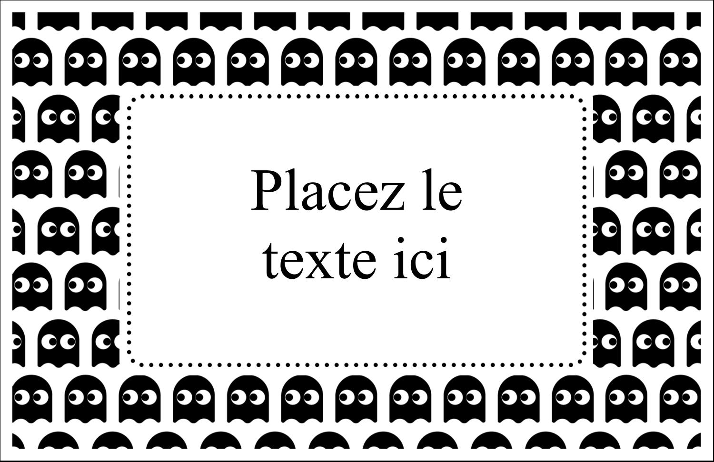 """8½"""" x 11"""" Cartes Et Articles D'Artisanat Imprimables - Fantômes Pac-Man d'Halloween"""