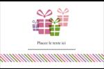 Quatre cadeaux Cartes de souhaits pliées en deux - gabarit prédéfini. <br/>Utilisez notre logiciel Avery Design & Print Online pour personnaliser facilement la conception.