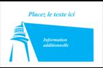Phare bleu Cartes de souhaits pliées en deux - gabarit prédéfini. <br/>Utilisez notre logiciel Avery Design & Print Online pour personnaliser facilement la conception.