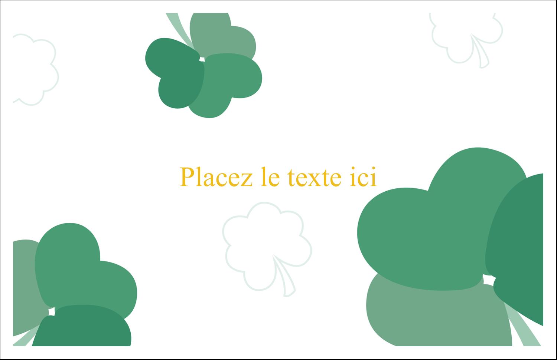 """8½"""" x 11"""" Cartes Et Articles D'Artisanat Imprimables - Trèfles en cœur de la Saint-Patrick"""