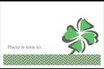 Trèfle de la Saint-Patrick Cartes Et Articles D'Artisanat Imprimables - gabarit prédéfini. <br/>Utilisez notre logiciel Avery Design & Print Online pour personnaliser facilement la conception.