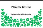 Pluie de trèfles de la Saint-Patrick Cartes Et Articles D'Artisanat Imprimables - gabarit prédéfini. <br/>Utilisez notre logiciel Avery Design & Print Online pour personnaliser facilement la conception.