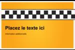 Échiquier taxi Cartes de souhaits pliées en deux - gabarit prédéfini. <br/>Utilisez notre logiciel Avery Design & Print Online pour personnaliser facilement la conception.