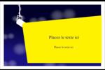 Projecteur sur fond bleu Cartes de souhaits pliées en deux - gabarit prédéfini. <br/>Utilisez notre logiciel Avery Design & Print Online pour personnaliser facilement la conception.