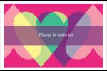 Rang de cœurs de la Saint-Valentin Cartes Et Articles D'Artisanat Imprimables - gabarit prédéfini. <br/>Utilisez notre logiciel Avery Design & Print Online pour personnaliser facilement la conception.