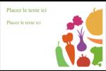 Panier de légumes Cartes de souhaits pliées en deux - gabarit prédéfini. <br/>Utilisez notre logiciel Avery Design & Print Online pour personnaliser facilement la conception.
