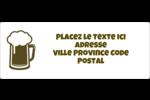 Image de bière Étiquettes d'adresse - gabarit prédéfini. <br/>Utilisez notre logiciel Avery Design & Print Online pour personnaliser facilement la conception.