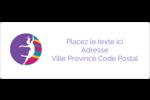 Danse en couleur Étiquettes d'adresse - gabarit prédéfini. <br/>Utilisez notre logiciel Avery Design & Print Online pour personnaliser facilement la conception.