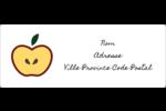 Pomme rouge Étiquettes d'adresse - gabarit prédéfini. <br/>Utilisez notre logiciel Avery Design & Print Online pour personnaliser facilement la conception.