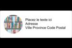 Rayons de bibliothèque Étiquettes d'adresse - gabarit prédéfini. <br/>Utilisez notre logiciel Avery Design & Print Online pour personnaliser facilement la conception.