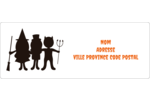 Enfants à l'Halloween Étiquettes d'adresse - gabarit prédéfini. <br/>Utilisez notre logiciel Avery Design & Print Online pour personnaliser facilement la conception.