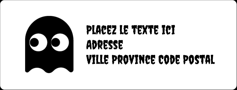 """1"""" x 4"""" Étiquettes d'adresse - Fantômes Pac-Man d'Halloween"""