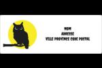 Chouette d'Halloween Étiquettes d'adresse - gabarit prédéfini. <br/>Utilisez notre logiciel Avery Design & Print Online pour personnaliser facilement la conception.