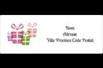 Quatre cadeaux Étiquettes d'adresse - gabarit prédéfini. <br/>Utilisez notre logiciel Avery Design & Print Online pour personnaliser facilement la conception.