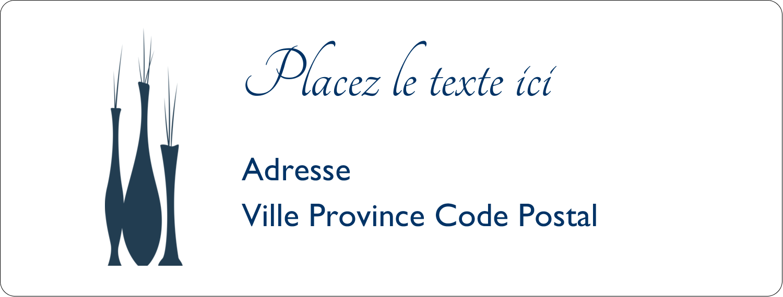 """1"""" x 4"""" Étiquettes d'adresse - Vase design d'intérieur"""