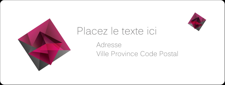 """1"""" x 4"""" Étiquettes d'adresse - Pierres de rubis"""