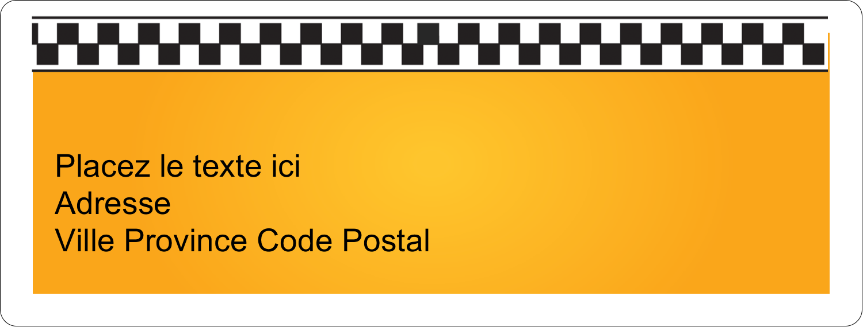 """1"""" x 2⅝"""" Étiquettes d'adresse - Échiquier taxi"""
