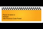 Échiquier taxi Étiquettes d'adresse - gabarit prédéfini. <br/>Utilisez notre logiciel Avery Design & Print Online pour personnaliser facilement la conception.
