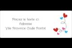 Saint-Valentin sur fond noir Étiquettes d'adresse - gabarit prédéfini. <br/>Utilisez notre logiciel Avery Design & Print Online pour personnaliser facilement la conception.