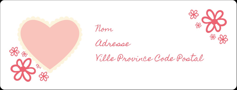 """1"""" x 4"""" Étiquettes d'adresse - Guingan de la Saint-Valentin"""