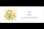 Dessin floral Étiquettes d'adresse - gabarit prédéfini. <br/>Utilisez notre logiciel Avery Design & Print Online pour personnaliser facilement la conception.