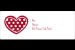 Cœur de Saint-Valentin Étiquettes d'adresse - gabarit prédéfini. <br/>Utilisez notre logiciel Avery Design & Print Online pour personnaliser facilement la conception.