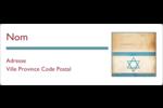 Étoile de David religieuse Étiquettes d'adresse - gabarit prédéfini. <br/>Utilisez notre logiciel Avery Design & Print Online pour personnaliser facilement la conception.