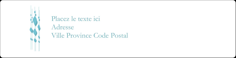 """1⅓"""" x 4"""" Étiquettes d'adresse - Rideau de perles bleues"""