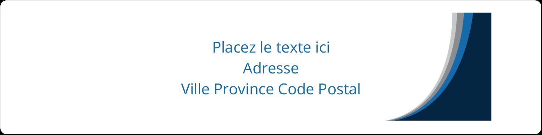 """1⅓"""" x 4"""" Étiquettes d'adresse - Vague bleue"""