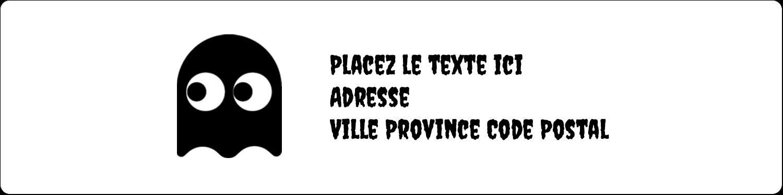 """1⅓"""" x 4"""" Étiquettes d'adresse - Fantômes Pac-Man d'Halloween"""
