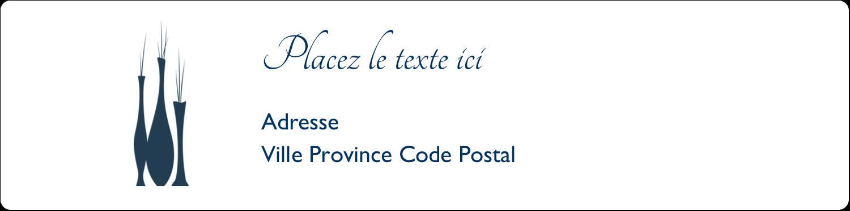 """1⅓"""" x 4"""" Étiquettes d'adresse - Vase design d'intérieur"""