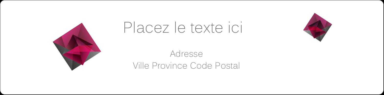 """1⅓"""" x 4"""" Étiquettes d'adresse - Pierres de rubis"""