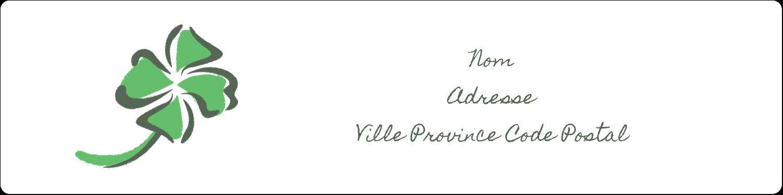 """1⅓"""" x 4"""" Étiquettes d'adresse - Trèfle de la Saint-Patrick"""