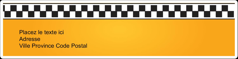 """1"""" x 4"""" Étiquettes d'adresse - Échiquier taxi"""