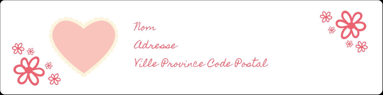 """1⅓"""" x 4"""" Étiquettes d'adresse - Guingan de la Saint-Valentin"""