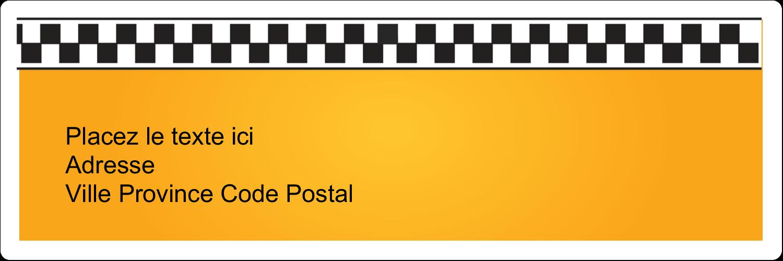 """1⅓"""" x 4"""" Étiquettes d'adresse - Échiquier taxi"""