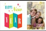 Vœux du nouvel an rétro Cartes de souhaits pliées en deux - gabarit prédéfini. <br/>Utilisez notre logiciel Avery Design & Print Online pour personnaliser facilement la conception.