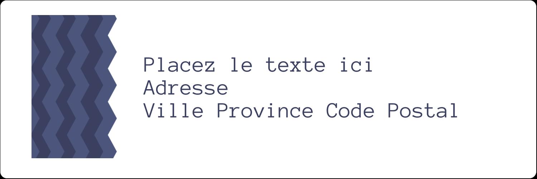 """8½"""" x 11"""" Intercalaires / Onglets - Chevron bleu"""