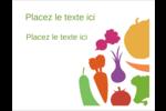 Panier de légumes Cartes de notes - gabarit prédéfini. <br/>Utilisez notre logiciel Avery Design & Print Online pour personnaliser facilement la conception.