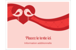 Oiseaux amoureux Cartes Et Articles D'Artisanat Imprimables - gabarit prédéfini. <br/>Utilisez notre logiciel Avery Design & Print Online pour personnaliser facilement la conception.