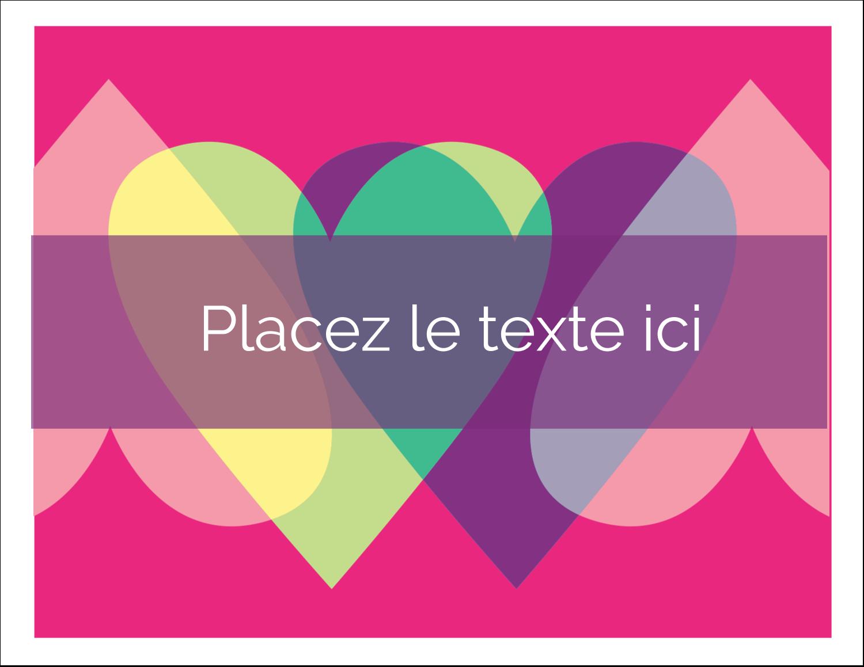 """8½"""" x 11"""" Cartes Et Articles D'Artisanat Imprimables - Rang de cœurs de la Saint-Valentin"""