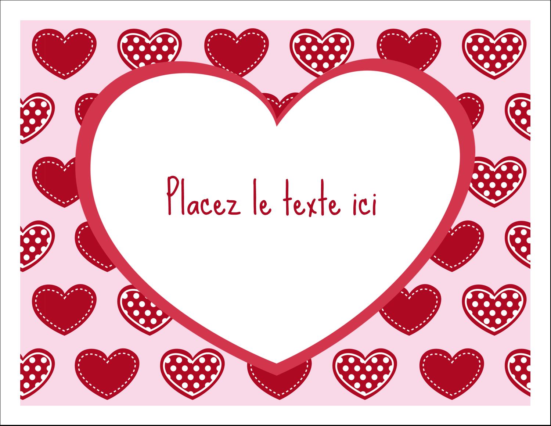 """8½"""" x 11"""" Cartes Et Articles D'Artisanat Imprimables - Cœur de Saint-Valentin"""