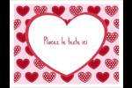 Cœur de Saint-Valentin Cartes Et Articles D'Artisanat Imprimables - gabarit prédéfini. <br/>Utilisez notre logiciel Avery Design & Print Online pour personnaliser facilement la conception.